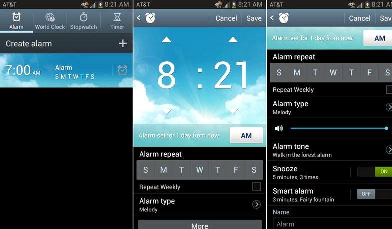 Hälytys Android kun puhelin on pois päältä