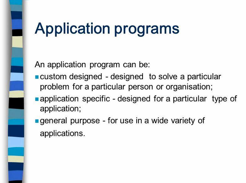 Un programma applicativo è un software che è stato progettato per fare che cosa