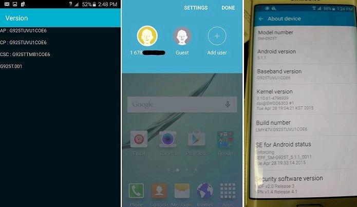 Android 5.1.1 hva nytt s6