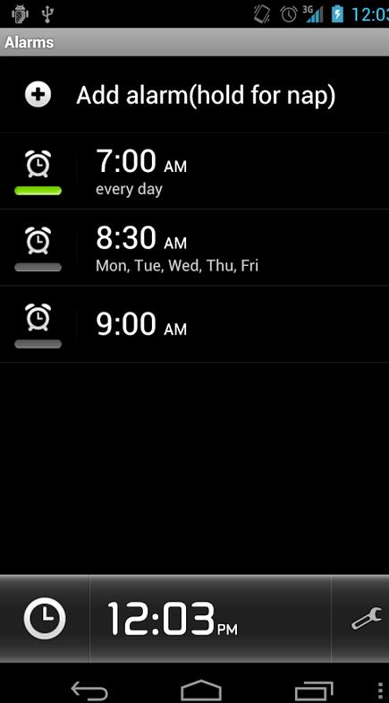 אפליקציית שעון מעורר Android שפועלת כאשר הטלפון כבוי