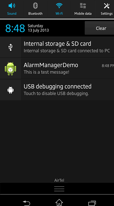 AlarmManager Android howto