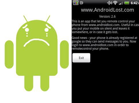 Android app pour suivre le téléphone en cas de perte