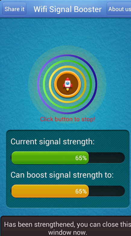 Android trennen wifi, wenn das Signal niedrig