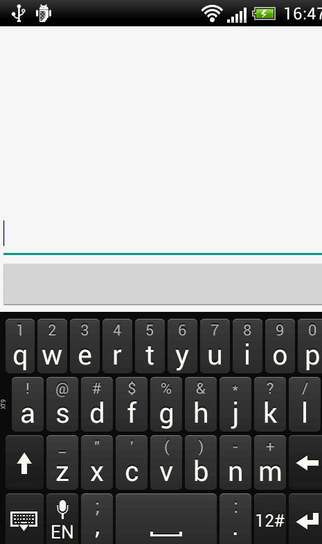 Android flytta layout när tangentbordet visas
