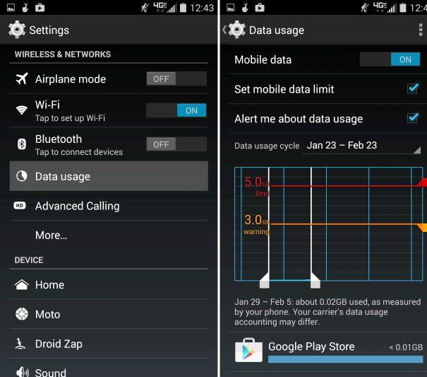 Android päälle synkronointi latauksen
