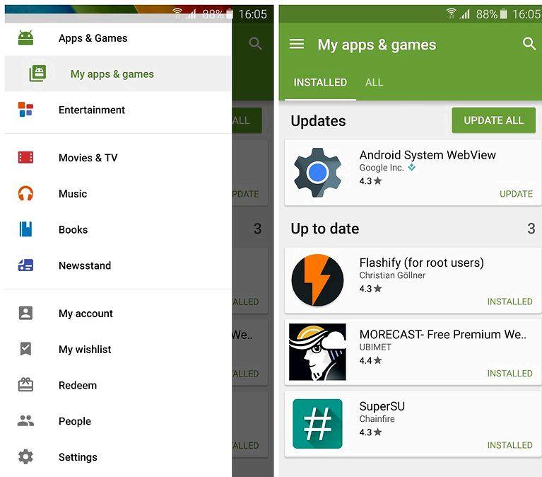 Androidのアップデートをプラグインする場合にのみアプリ