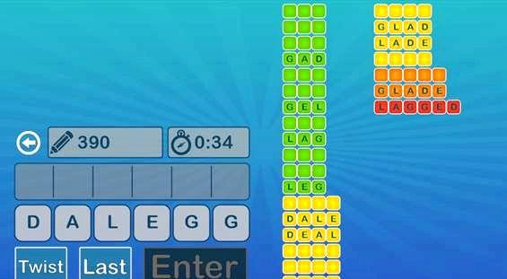 משחק App שבו שתבצע כמו מילים רבות ככל שתוכל