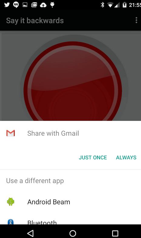 App, wo Sie sagen Worte rückwärts