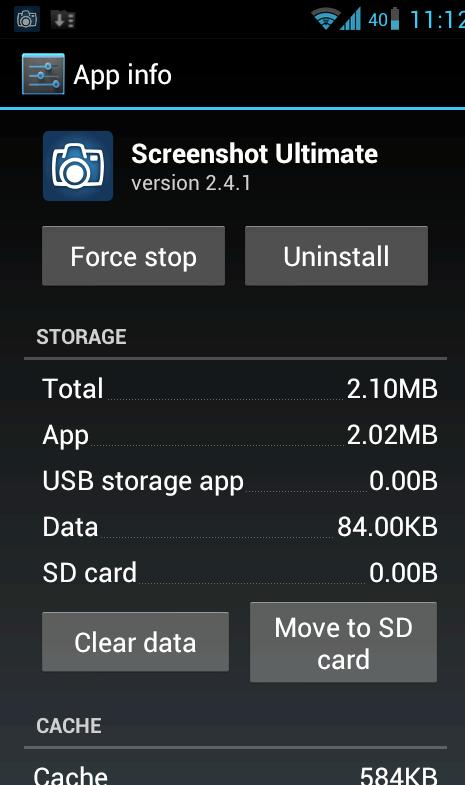 Apps verschwinden, wenn auf SD-Karte verschoben