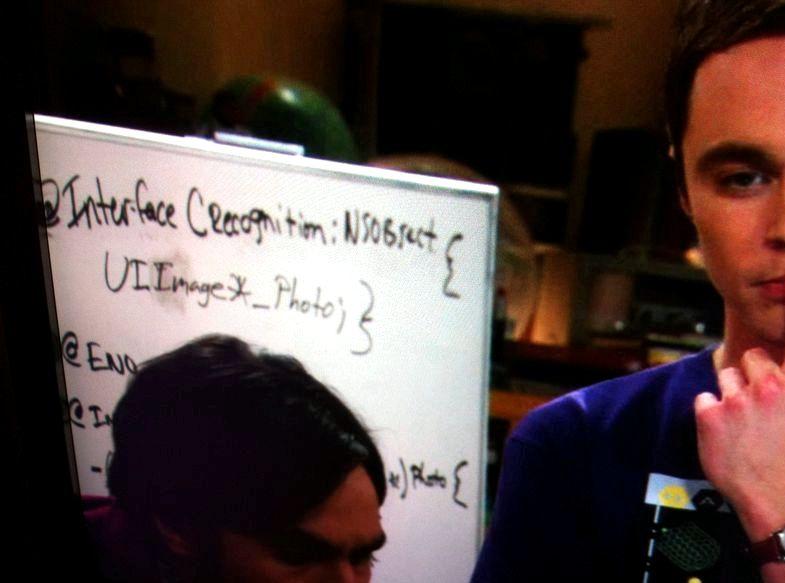Big Bang Theory þætti þar sem þeir gera app