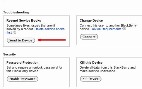 Blackberry resend Service-Bücher was tut sie