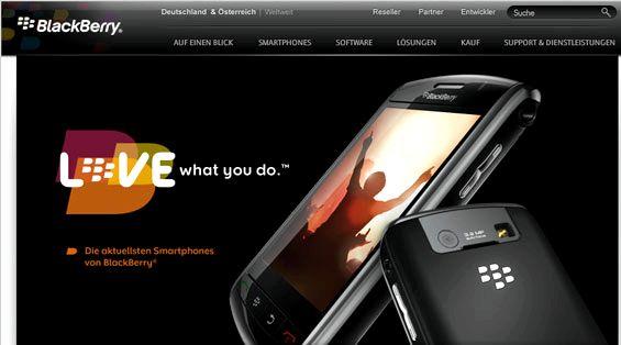 Blackberry slogan love what you do