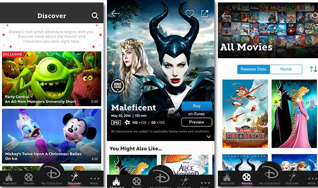 Disney-filmer hvor som helst android app