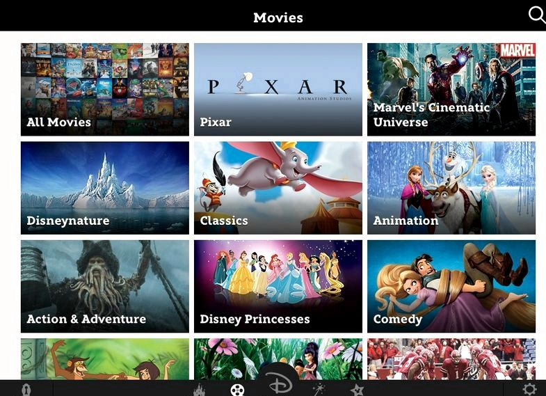 filmes da Disney em qualquer app canada