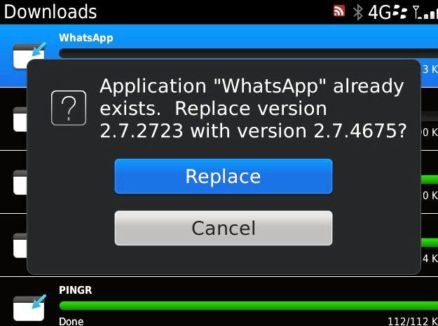 Sækja Whatsup BlackBerry 8900