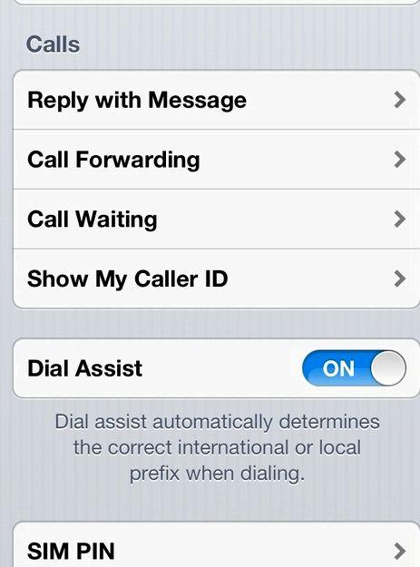 iphone 4sのから呼び出すときに私の電話番号を非表示にします
