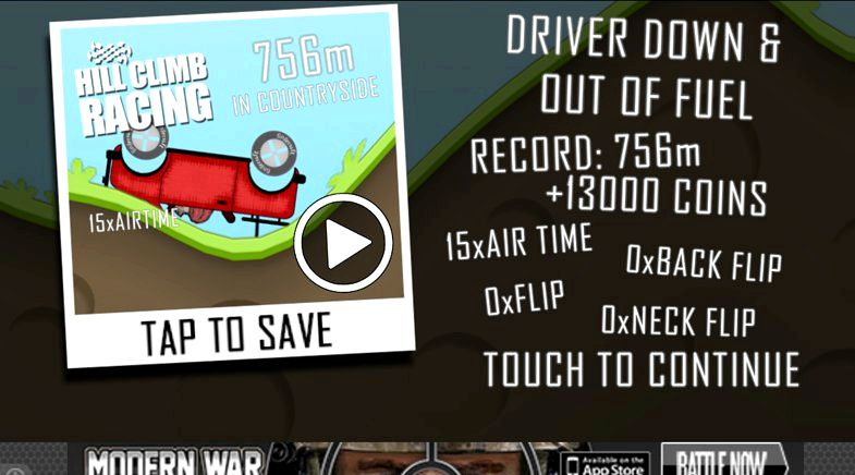 Hill climb racing app how many levels