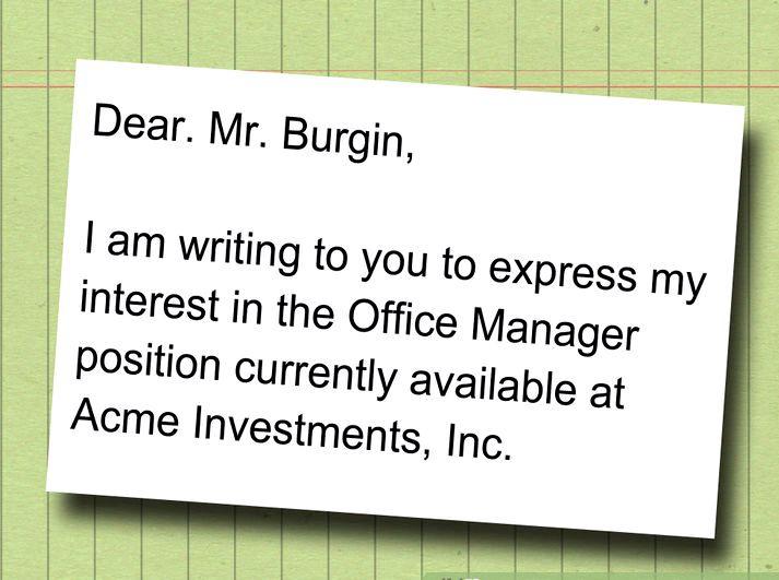 Bir iş nasıl 2 yazma başvuru mektubu 4