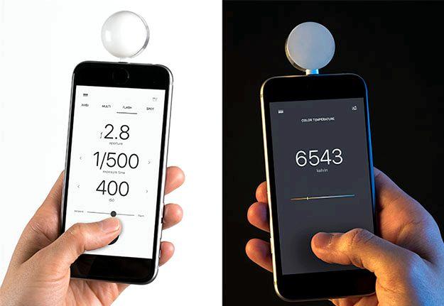 Qual é a precisão do medidor lux iphone