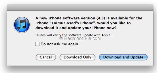 Nasıl benim ipod touch ios 4.3 indirebilirsiniz