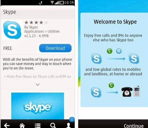 Hvernig get ég sótt Skype á Nokia N8 minn