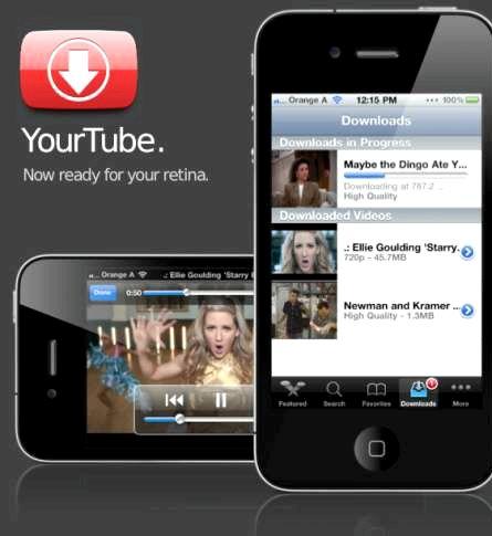 Hvernig get ég sótt myndbönd frá youtube á iPhone 4S mínum