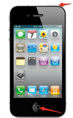 Eğer iphone 4s bir ekran görüntüsü alabilir nasıl