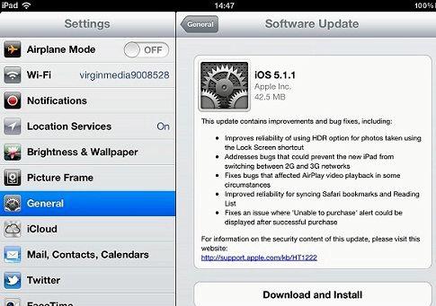 Ios 5.1.1 che cosa è nuovo