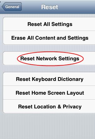 Iphone 4 impostazioni di rete di reset che cosa fa