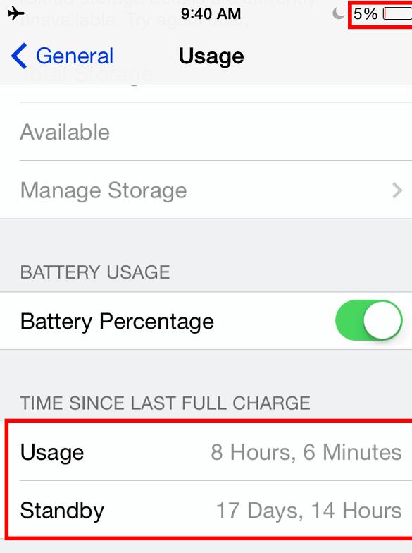 percentuale della batteria Iphone salta una volta inserita