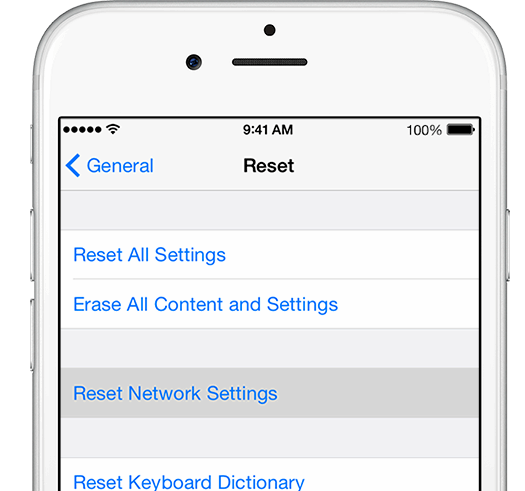 Iphone reset network settings what does it do