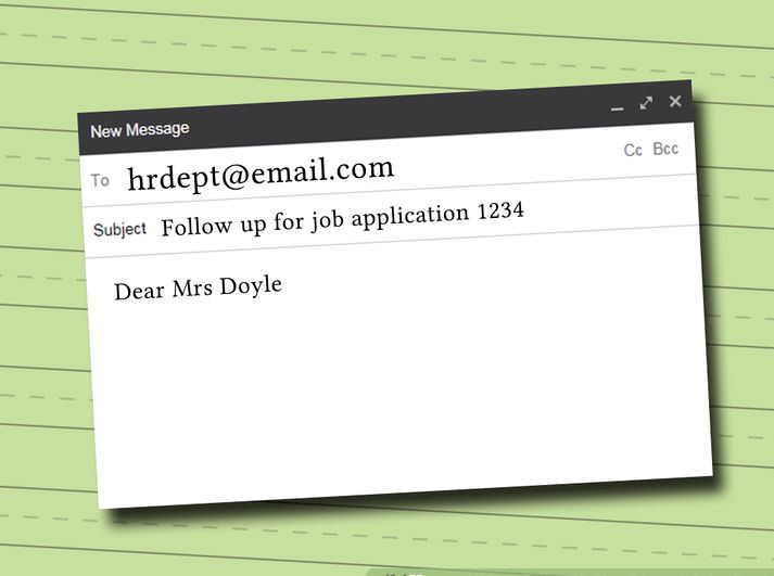 how to write a job application via email