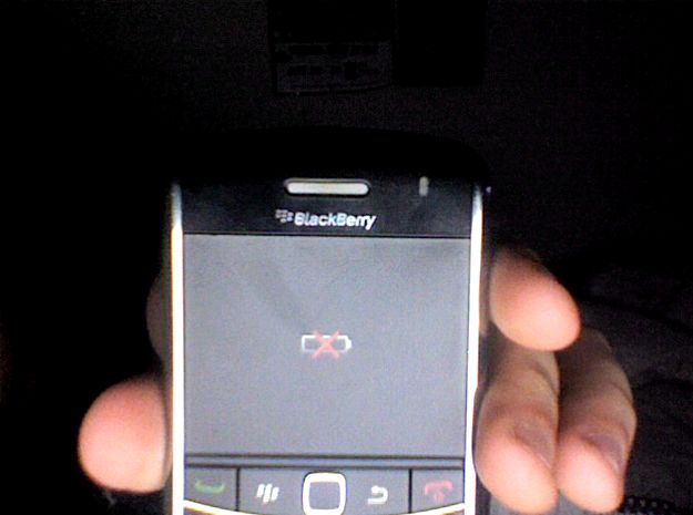 Aucun coup de foudre lors de la charge blackberry