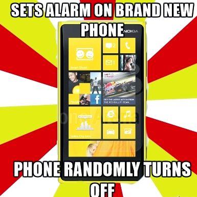 Nokia lumia 920 hälytyksen, kun puhelin on pois päältä