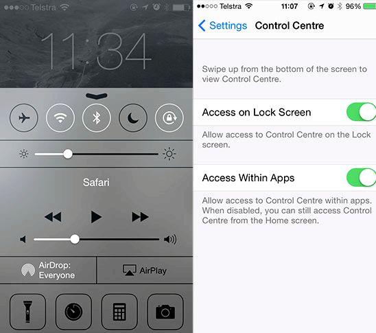 ב- iOS 7 איפה ברדיו