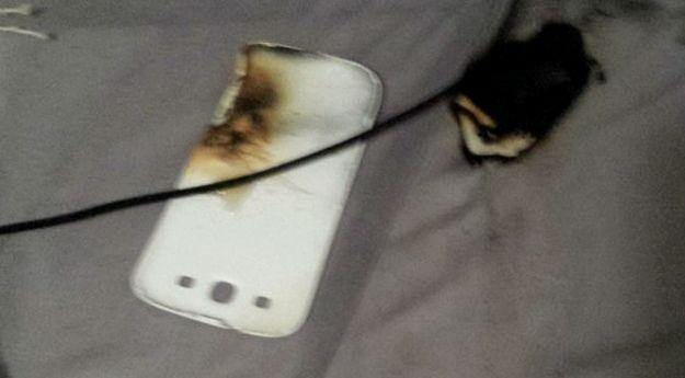 Telefon Batterie explodieren, bei der Aufladung