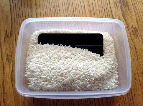 iphone arroz cuánto tiempo