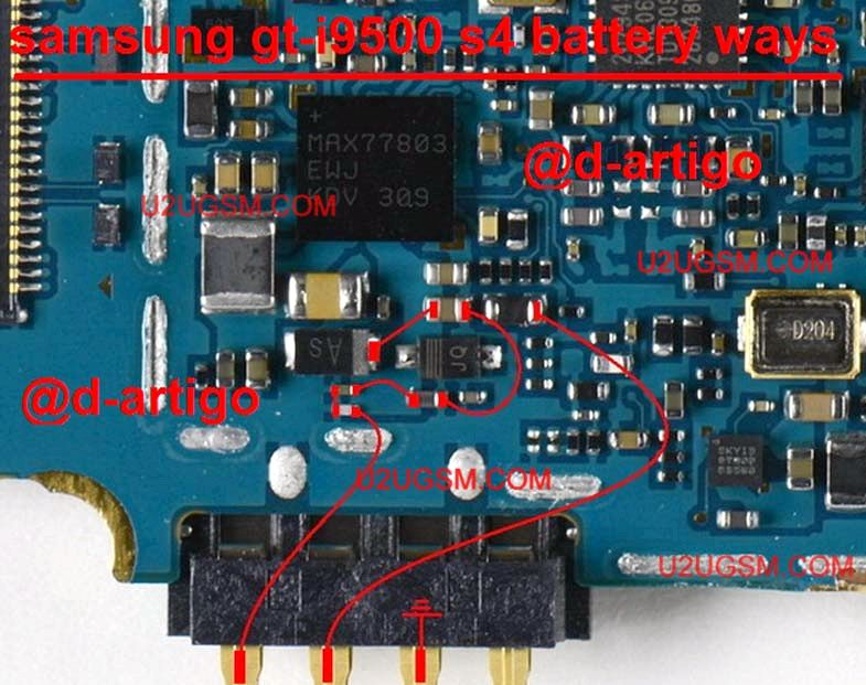 Samsung Galaxy S4 Batterie getrennt, wenn der Lade