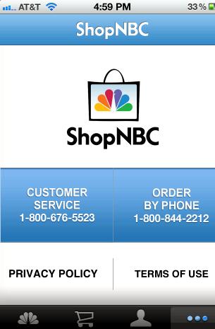ShopNBC tahansa iphone
