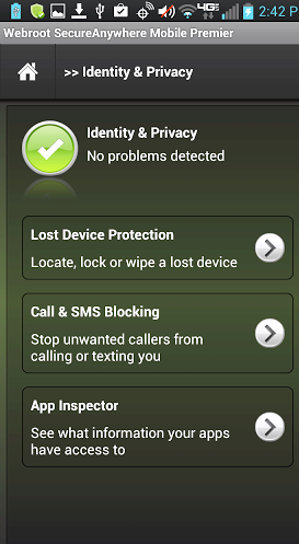 Webroot SecureAnywhere apk cellulare
