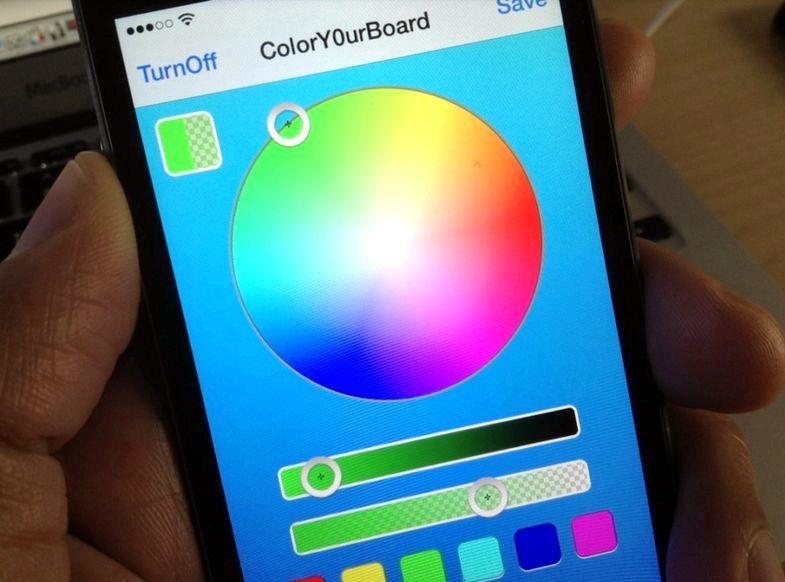 Hva app kan endre tastaturet farge