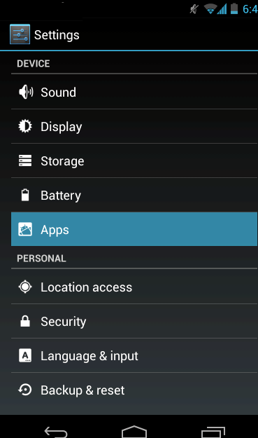 What applications should be running on my android