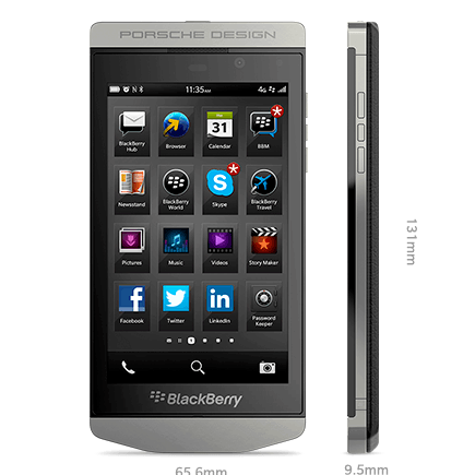 What are specs of blackberry p9982