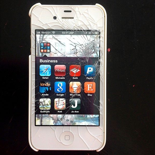 What can i do if my iphone 4 screen cracked