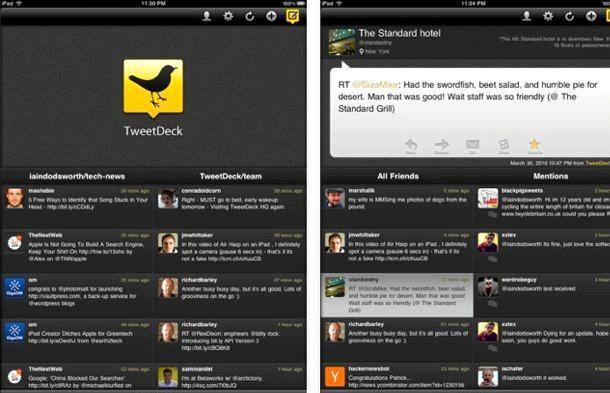 Was ist passiert ipad App TweetDeck