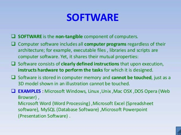 software and its types I basic software application types word processing software: flexible tool if the pen is mightier than the sword, the word processor is even better here are some articles that will help you to get more detail about the application software & its types so just go through the link.