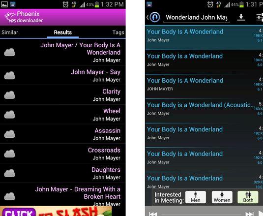 Hvað er besta mp3 niðurhal app fyrir Android 2012