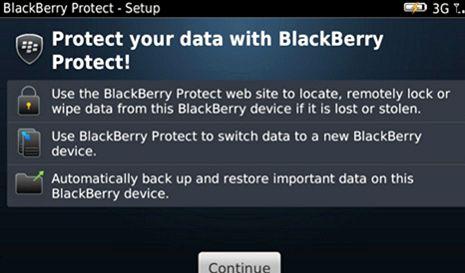 Qual è l'indirizzo del sito web di protezione di BlackBerry