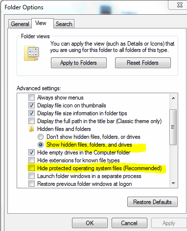 Quel est le nom correct pour le dossier de données d'application dans Windows 7 de pomme