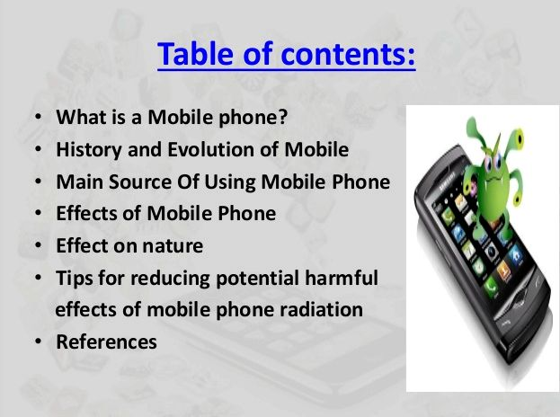 impact of mobile phones